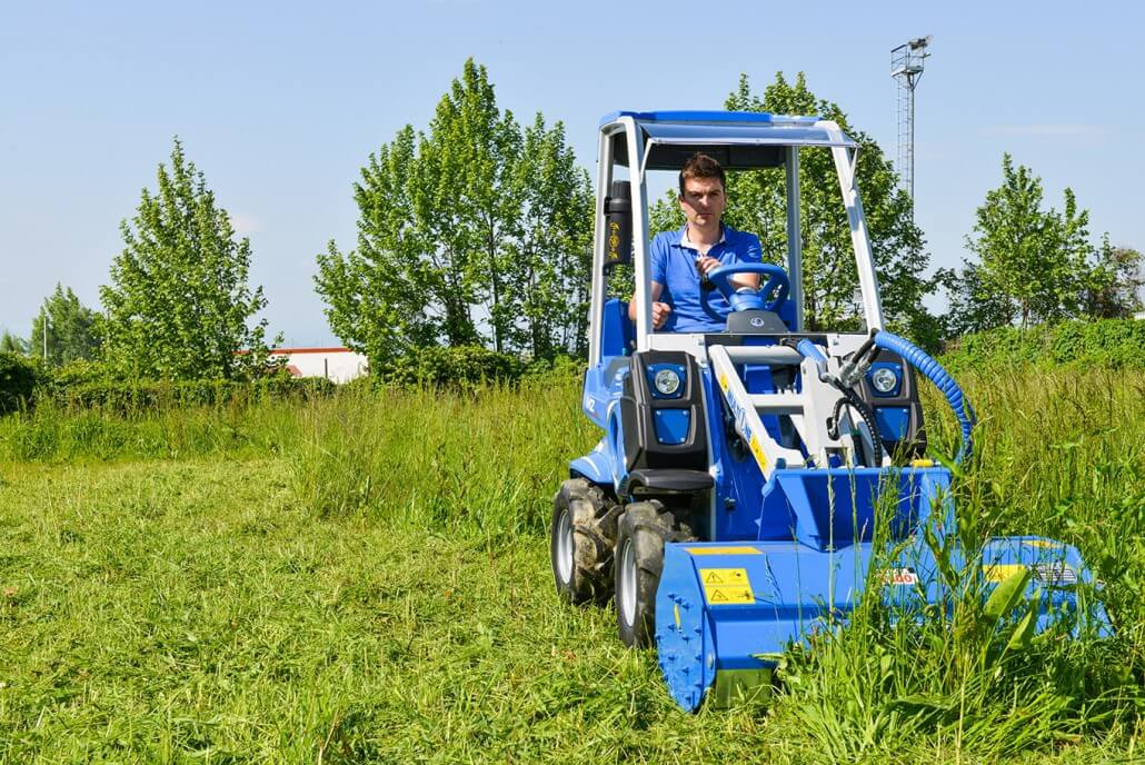 MultiOne mini loader 2 series with flail mower