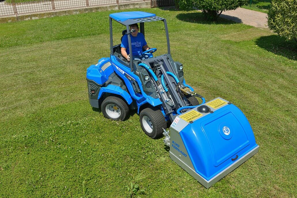 MultiOne mini loader 6 series with tornado lawn mower